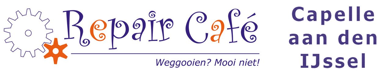 Repair Café Capelle is gedurende de schoolvakantie gesloten. In september gaan wij weer open.